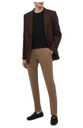 Мужские кожаные мокасины TOD'S черного цвета, арт. XXM0GW0CT566RN | Фото 2 (Материал внутренний: Натуральная кожа; Стили: Кэжуэл)