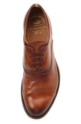 Мужские кожаные оксфорды OFFICINE CREATIVE коричневого цвета, арт. ANAT0MIA/08/AER0 CANY0N   Фото 5 (Материал внутренний: Натуральная кожа; Стили: Классический)