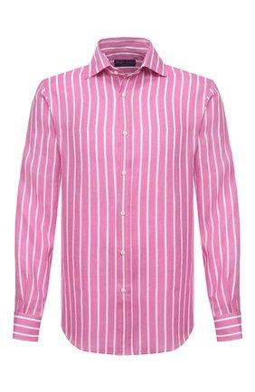 Мужская льняная рубашка RALPH LAUREN розового цвета, арт. 790826542 | Фото 1