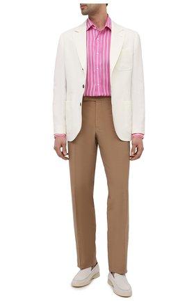 Мужская льняная рубашка RALPH LAUREN розового цвета, арт. 790826542 | Фото 2