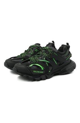 Мужские комбинированные кроссовки track BALENCIAGA черного цвета, арт. 542023/W3AC2   Фото 1 (Подошва: Массивная; Материал внешний: Текстиль; Материал внутренний: Текстиль; Стили: Гранж)