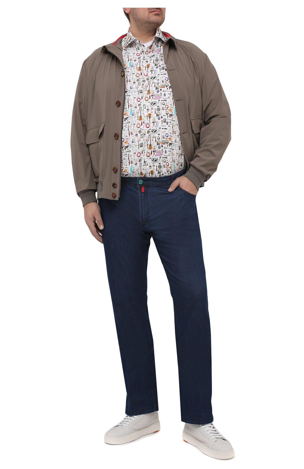 Мужская льняная рубашка SONRISA разноцветного цвета, арт. IL7/C4120/47-51   Фото 2 (Манжеты: На пуговицах; Big sizes: Big Sizes; Рукава: Длинные; Рубашки М: Classic Fit; Воротник: Акула; Случай: Повседневный; Длина (для топов): Стандартные; Принт: С принтом; Материал внешний: Лен; Стили: Кэжуэл)