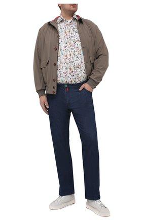 Мужская льняная рубашка SONRISA разноцветного цвета, арт. IL7/C4120/47-51 | Фото 2 (Рукава: Длинные; Длина (для топов): Стандартные; Материал внешний: Лен; Случай: Повседневный; Стили: Кэжуэл; Рубашки М: Classic Fit; Манжеты: На пуговицах; Принт: С принтом; Воротник: Акула; Big sizes: Big Sizes)
