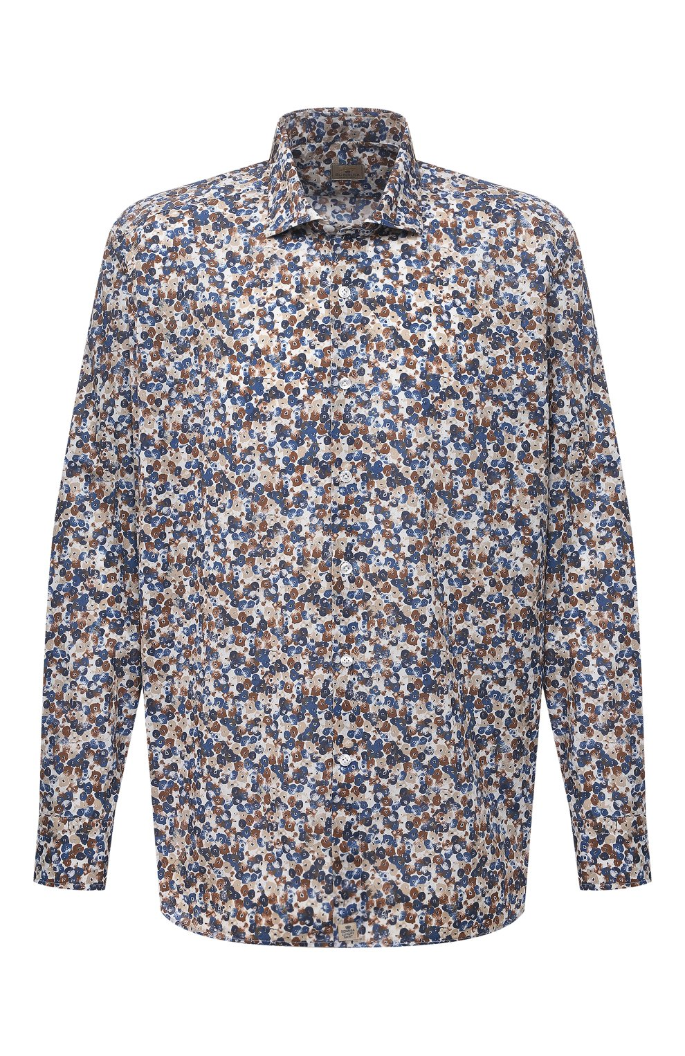 Мужская хлопковая рубашка SONRISA разноцветного цвета, арт. IL7/C4075/47-51 | Фото 1 (Манжеты: На пуговицах; Big sizes: Big Sizes; Рукава: Длинные; Рубашки М: Classic Fit; Воротник: Акула; Случай: Повседневный; Длина (для топов): Стандартные; Принт: С принтом; Материал внешний: Хлопок; Стили: Кэжуэл)