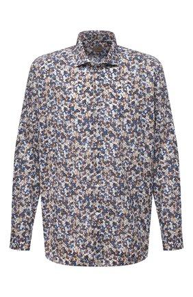 Мужская хлопковая рубашка SONRISA разноцветного цвета, арт. IL7/C4075/47-51 | Фото 1 (Материал внешний: Хлопок; Рукава: Длинные; Длина (для топов): Стандартные; Случай: Повседневный; Стили: Кэжуэл; Рубашки М: Classic Fit; Манжеты: На пуговицах; Принт: С принтом; Воротник: Акула; Big sizes: Big Sizes)