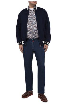 Мужская хлопковая рубашка SONRISA разноцветного цвета, арт. IL7/C4075/47-51 | Фото 2 (Манжеты: На пуговицах; Big sizes: Big Sizes; Рукава: Длинные; Рубашки М: Classic Fit; Воротник: Акула; Случай: Повседневный; Длина (для топов): Стандартные; Принт: С принтом; Материал внешний: Хлопок; Стили: Кэжуэл)
