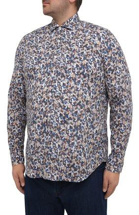 Мужская хлопковая рубашка SONRISA разноцветного цвета, арт. IL7/C4075/47-51 | Фото 3 (Манжеты: На пуговицах; Big sizes: Big Sizes; Рукава: Длинные; Рубашки М: Classic Fit; Воротник: Акула; Случай: Повседневный; Длина (для топов): Стандартные; Принт: С принтом; Материал внешний: Хлопок; Стили: Кэжуэл)