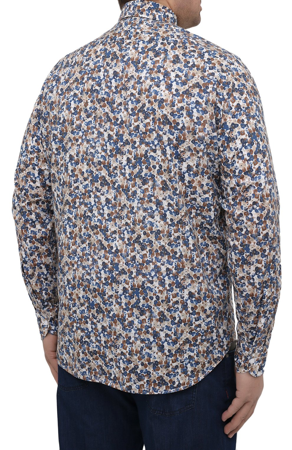 Мужская хлопковая рубашка SONRISA разноцветного цвета, арт. IL7/C4075/47-51 | Фото 4 (Манжеты: На пуговицах; Big sizes: Big Sizes; Рукава: Длинные; Рубашки М: Classic Fit; Воротник: Акула; Случай: Повседневный; Длина (для топов): Стандартные; Принт: С принтом; Материал внешний: Хлопок; Стили: Кэжуэл)