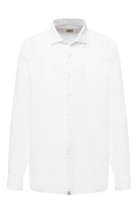 Мужская льняная рубашка SONRISA белого цвета, арт. I4/TC/TC162/47-51 | Фото 1 (Длина (для топов): Стандартные; Рукава: Длинные; Материал внешний: Лен; Случай: Повседневный; Стили: Кэжуэл; Рубашки М: Classic Fit; Манжеты: На пуговицах; Принт: Однотонные; Воротник: Акула; Big sizes: Big Sizes)