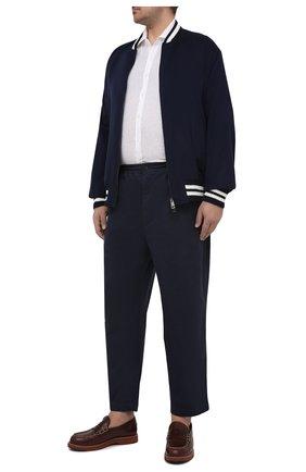 Мужская льняная рубашка SONRISA белого цвета, арт. I4/TC/TC162/47-51 | Фото 2 (Длина (для топов): Стандартные; Рукава: Длинные; Материал внешний: Лен; Случай: Повседневный; Стили: Кэжуэл; Рубашки М: Classic Fit; Манжеты: На пуговицах; Принт: Однотонные; Воротник: Акула; Big sizes: Big Sizes)
