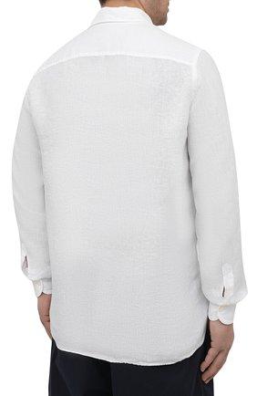 Мужская льняная рубашка SONRISA белого цвета, арт. I4/TC/TC162/47-51 | Фото 4 (Манжеты: На пуговицах; Big sizes: Big Sizes; Рукава: Длинные; Рубашки М: Classic Fit; Воротник: Акула; Случай: Повседневный; Длина (для топов): Стандартные; Материал внешний: Лен; Принт: Однотонные; Стили: Кэжуэл)