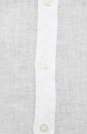 Мужская льняная рубашка SONRISA белого цвета, арт. I4/TC/TC162/47-51 | Фото 5 (Манжеты: На пуговицах; Big sizes: Big Sizes; Рукава: Длинные; Рубашки М: Classic Fit; Воротник: Акула; Случай: Повседневный; Длина (для топов): Стандартные; Материал внешний: Лен; Принт: Однотонные; Стили: Кэжуэл)