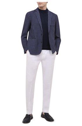 Мужской льняной пиджак 120% LINO темно-синего цвета, арт. T0M8918/F938/S00 | Фото 2