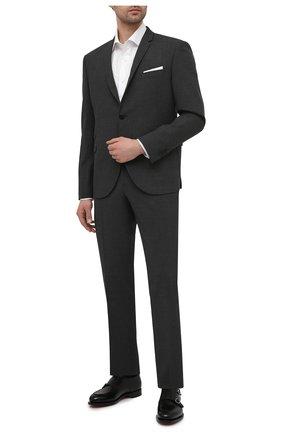 Мужской костюм NEIL BARRETT серого цвета, арт. PBAB49/Q005 | Фото 1