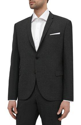 Мужской костюм NEIL BARRETT серого цвета, арт. PBAB49/Q005 | Фото 2