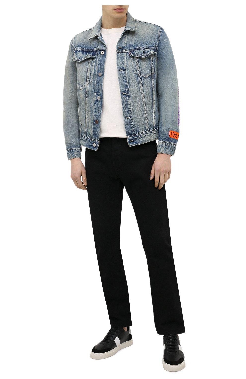 Мужские кожаные кеды AXEL ARIGATO черного цвета, арт. 27547 | Фото 2