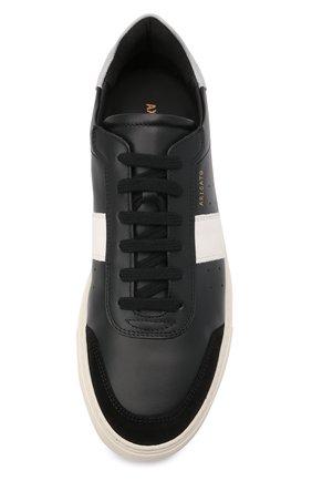 Мужские кожаные кеды AXEL ARIGATO черного цвета, арт. 27547 | Фото 5