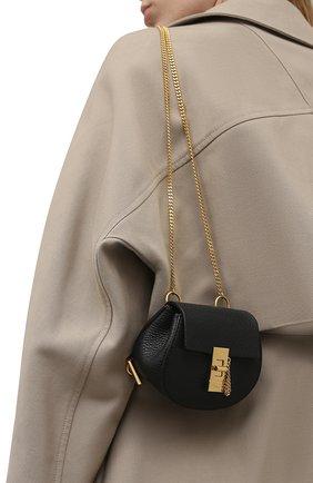 Женский рюкзак drew mini CHLOÉ черного цвета, арт. CHC21SP100944 | Фото 2