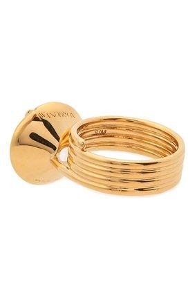 Женское кольцо JW ANDERSON золотого цвета, арт. JY0063 0T0003   Фото 2