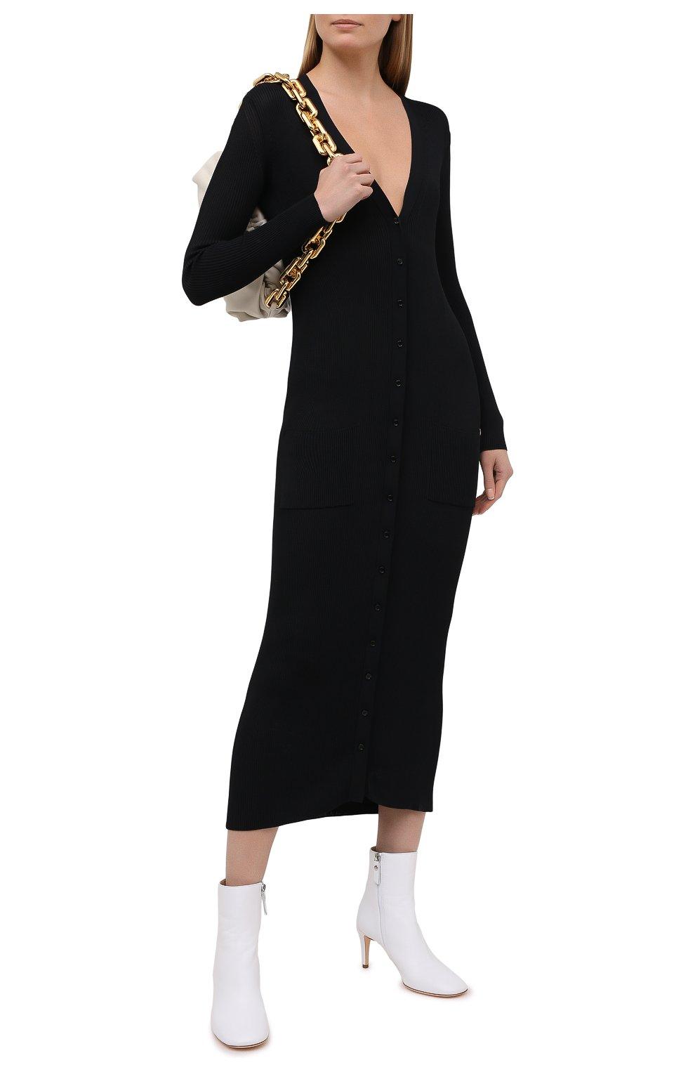 Женские кожаные ботильоны AGL белого цвета, арт. D260501PCS0FTY0102 | Фото 2 (Каблук высота: Высокий, Средний; Материал внешний: Кожа; Материал внутренний: Натуральная кожа; Каблук тип: Шпилька; Подошва: Плоская)