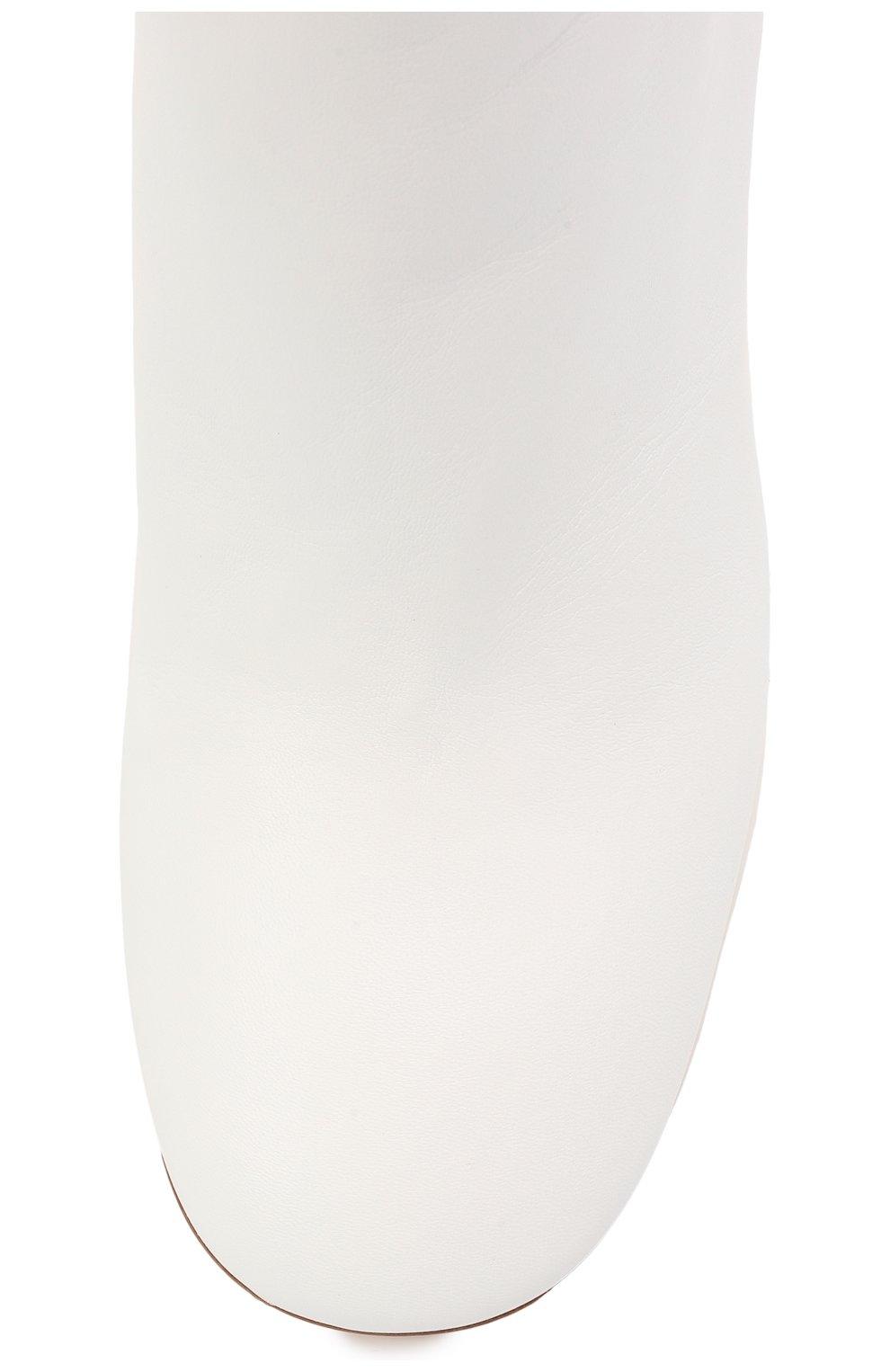 Женские кожаные ботильоны AGL белого цвета, арт. D260501PCS0FTY0102 | Фото 5 (Каблук высота: Высокий, Средний; Материал внешний: Кожа; Материал внутренний: Натуральная кожа; Каблук тип: Шпилька; Подошва: Плоская)