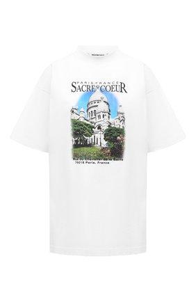 Женская хлопковая футболка BALENCIAGA белого цвета, арт. 641590/TJVH8 | Фото 1