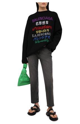 Женские джинсы BALENCIAGA темно-серого цвета, арт. 641547/TBP47 | Фото 2