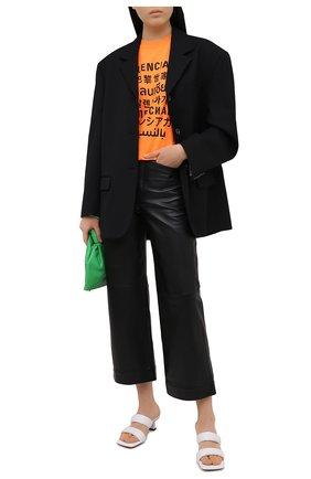 Женская футболка BALENCIAGA оранжевого цвета, арт. 612965/TJVI3 | Фото 2
