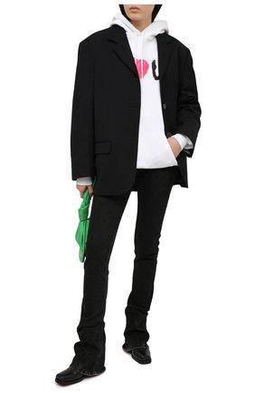 Женский хлопковое худи BALENCIAGA белого цвета, арт. 578135/TJVL6 | Фото 2