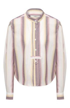 Женская хлопковая рубашка ISABEL MARANT ETOILE светло-бежевого цвета, арт. HT1995-21P025E/JAMET   Фото 1