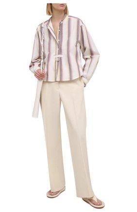 Женская хлопковая рубашка ISABEL MARANT ETOILE светло-бежевого цвета, арт. HT1995-21P025E/JAMET   Фото 2