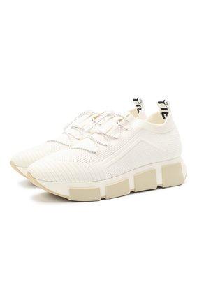Женские текстильные кроссовки VIC MATIE белого цвета, арт. 1Z5436D.U02C8S0112 | Фото 1