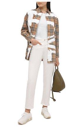 Женские текстильные кроссовки VIC MATIE белого цвета, арт. 1Z5436D.U02C8S0112 | Фото 2