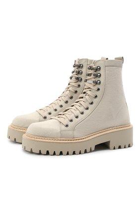 Женские комбинированные ботинки VIC MATIE бежевого цвета, арт. 1Z5614D.Y10C8UB082   Фото 1