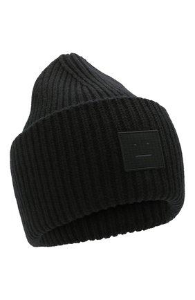 Женская шерстяная шапка ACNE STUDIOS черного цвета, арт. C40135/W | Фото 1