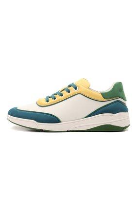 Женские кожаные кроссовки LORO PIANA зеленого цвета, арт. FAL2810   Фото 3