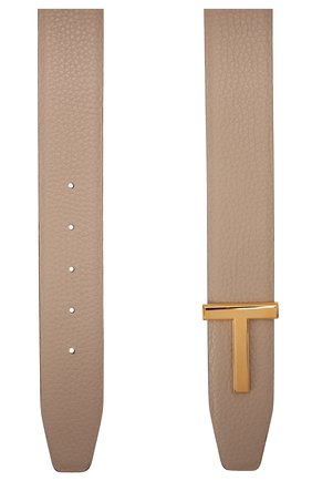 Женский кожаный ремень TOM FORD бежевого цвета, арт. WB206TN-LCL156 | Фото 2 (Материал: Кожа)