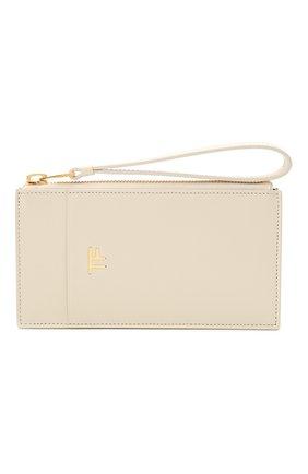 Женский кожаный футляр для кредитных карт TOM FORD белого цвета, арт. S0336T-LG0009 | Фото 1
