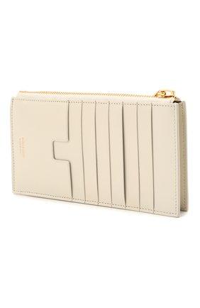 Женский кожаный футляр для кредитных карт TOM FORD белого цвета, арт. S0336T-LG0009 | Фото 2