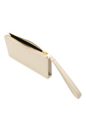 Женский кожаный футляр для кредитных карт TOM FORD белого цвета, арт. S0336T-LG0009 | Фото 3