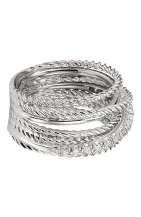 Женские кольцо DAVID YURMAN бесцветного цвета, арт. R07370DSSADI   Фото 1