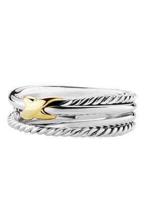 Женские кольцо DAVID YURMAN бесцветного цвета, арт. R07437 S8 | Фото 1