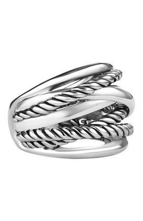 Женские кольцо DAVID YURMAN бесцветного цвета, арт. R09434 SS | Фото 1