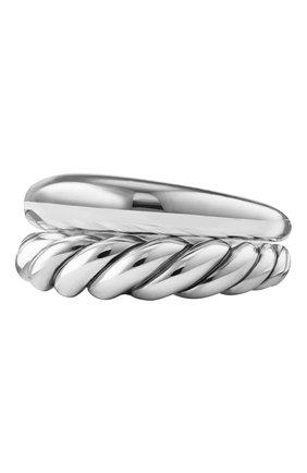 Женские кольцо DAVID YURMAN бесцветного цвета, арт. R13036 SS | Фото 1