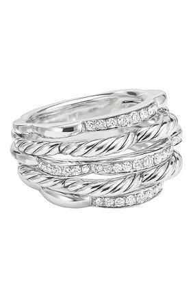 Женские кольцо DAVID YURMAN бесцветного цвета, арт. R14260DSSADI | Фото 1
