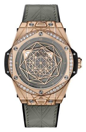 Женские часы sang bleu king gold white diamonds HUBLOT бесцветного цвета, арт. 465.OS.7048.VR.1204.MXM20 | Фото 1