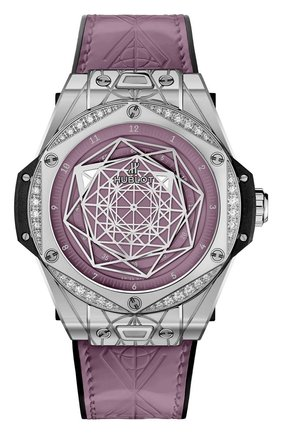 Женские часы one click sang bleu steel pink HUBLOT бесцветного цвета, арт. 465.SS.89P7.VR.1204.MXM20 | Фото 1