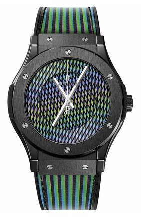 Мужские часы cruz diez ceramic HUBLOT черного цвета, арт. 511.CX.8900.VR.CZD19 | Фото 1