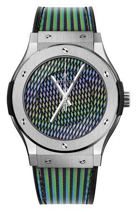 Мужские часы cruz diez titanium HUBLOT серебряного цвета, арт. 511.NX.8900.VR.CZD19 | Фото 1