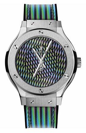 Женские часы cruz diez titanium HUBLOT серебряного цвета, арт. 565.NX.8900.VR.CZD19 | Фото 1